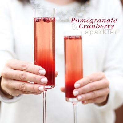 {Cocktail Friday} Pomegranate-Cranberry Sparklers