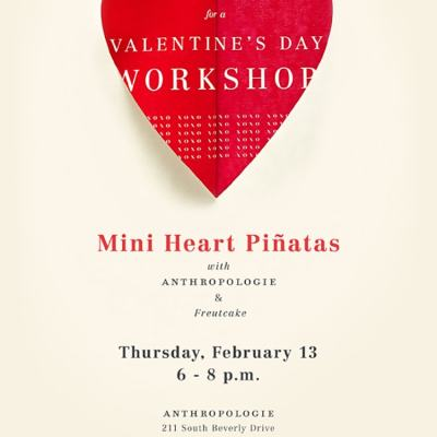 Freutcake + Anthropologie Valentine's Workshop