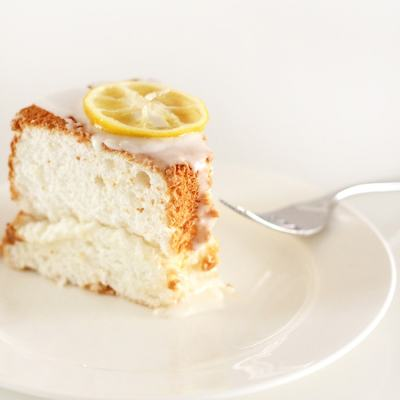 Lemon Angel Food Cake & BHG