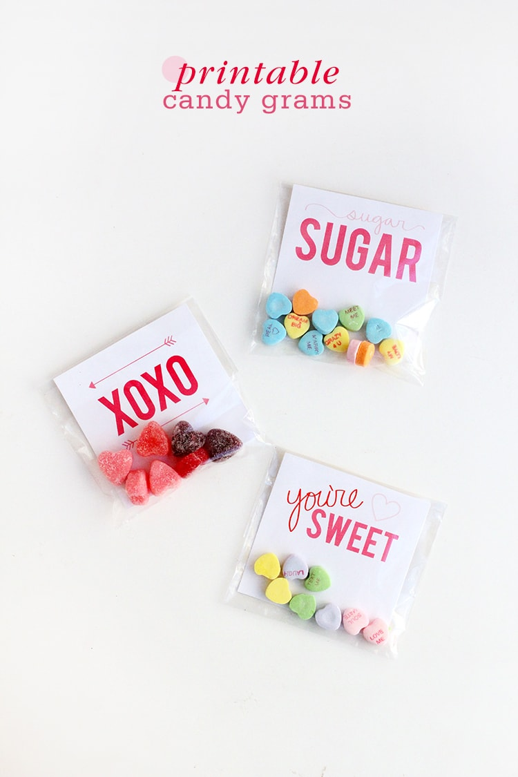 Printable Valentines Day Candy Grams