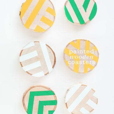 DIY Painted Wooden Coasters