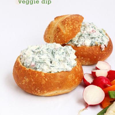 Spinach Artichoke Veggie Dip