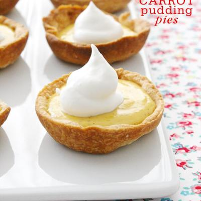 MINIATURE CARROT PUDDING PIES
