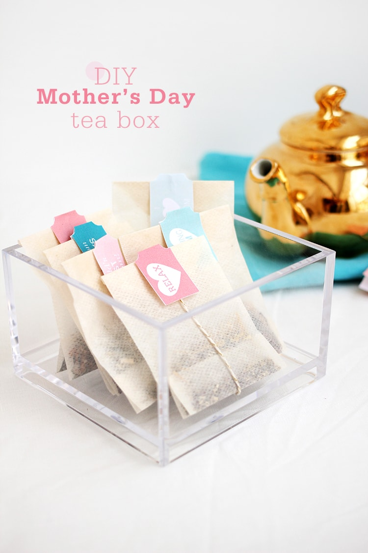 diy Mother's Day Tea Box