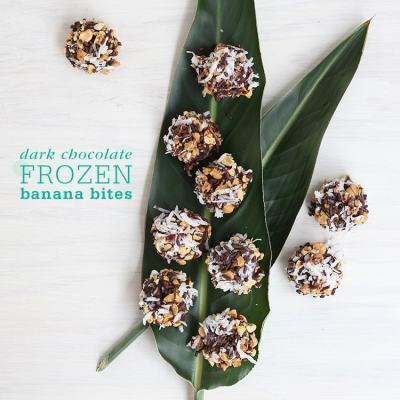 Frozen Dark Chocolate Covered Banana Bites