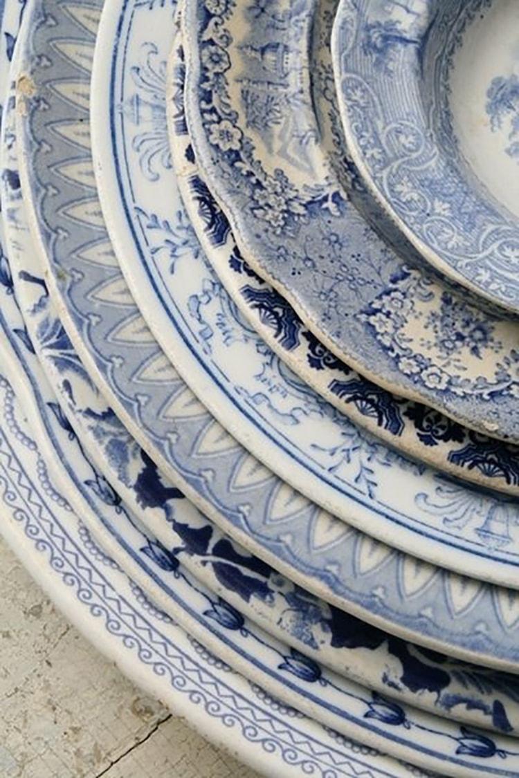 China Plates Mismatched