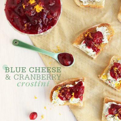 Blue Cheese & Cranberry Crostini