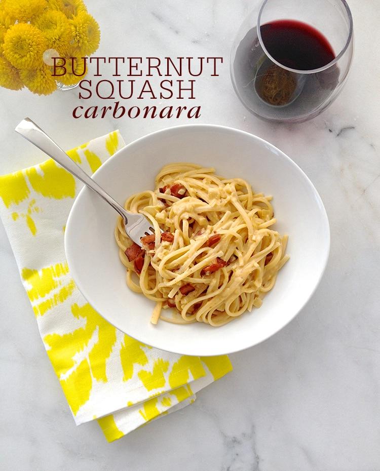 Butternut Squash Carbonara