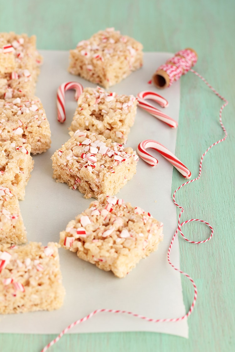 Peppermint White Chocolate Krispies