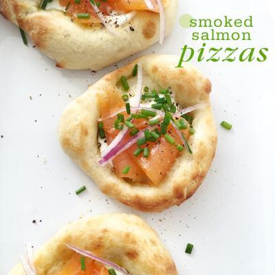 Smoked Salmon Pizzas