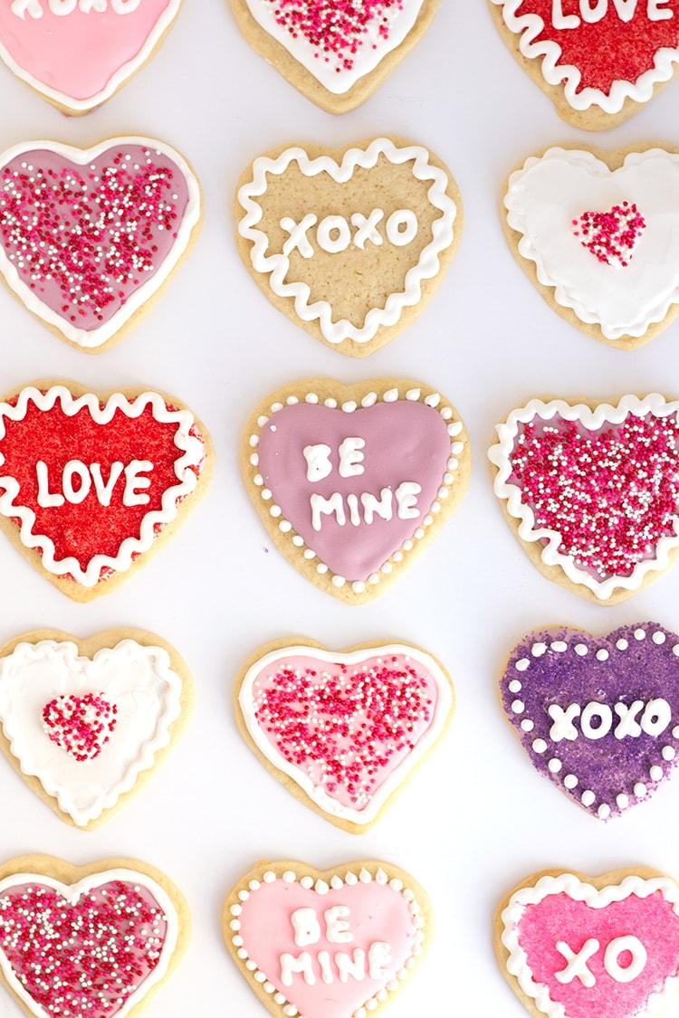 Conversation Heart Sugar Cookies