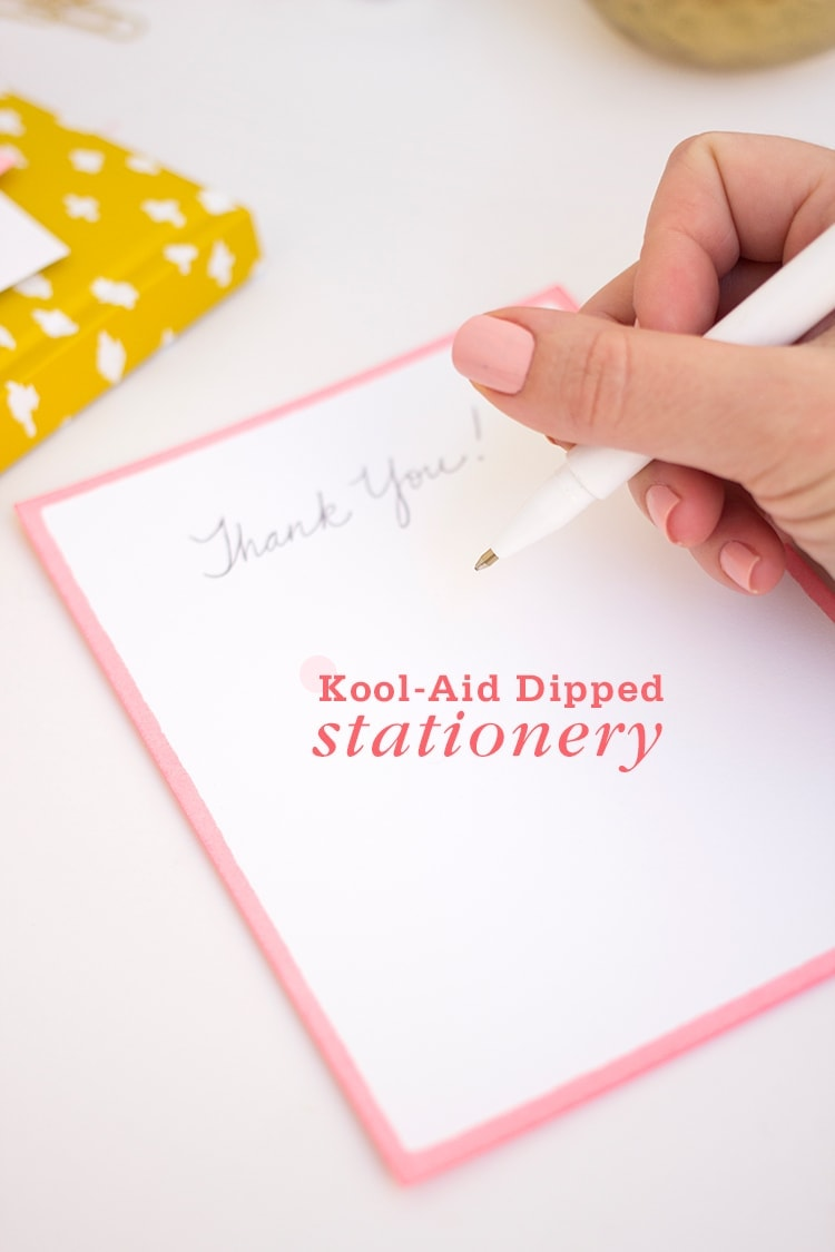Kool Aid Dipped Stationery