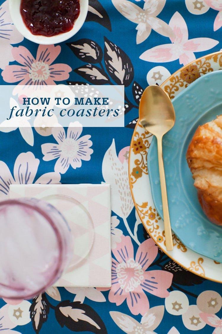 How To Make Diy Fabric Coasters