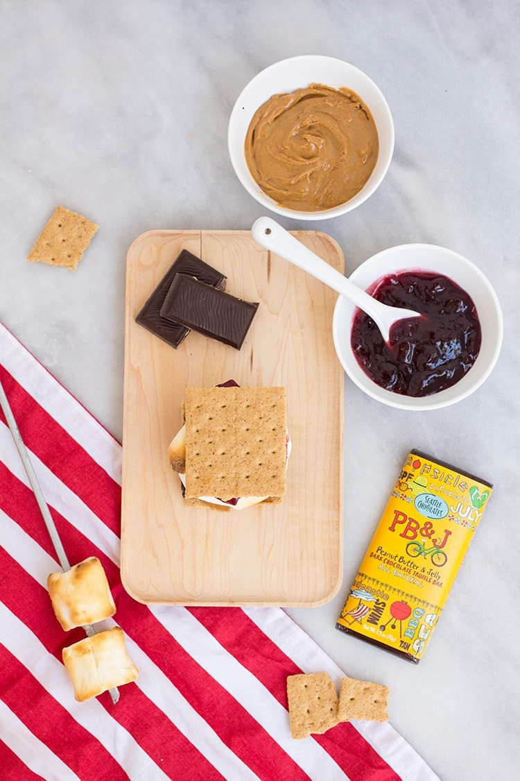 Peanut Butter and Jelly Smores