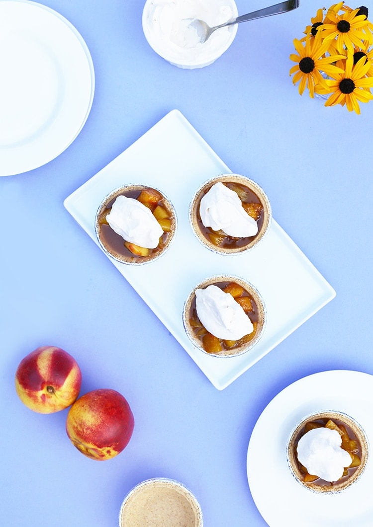 Mini Peach Bourbon Pies 4