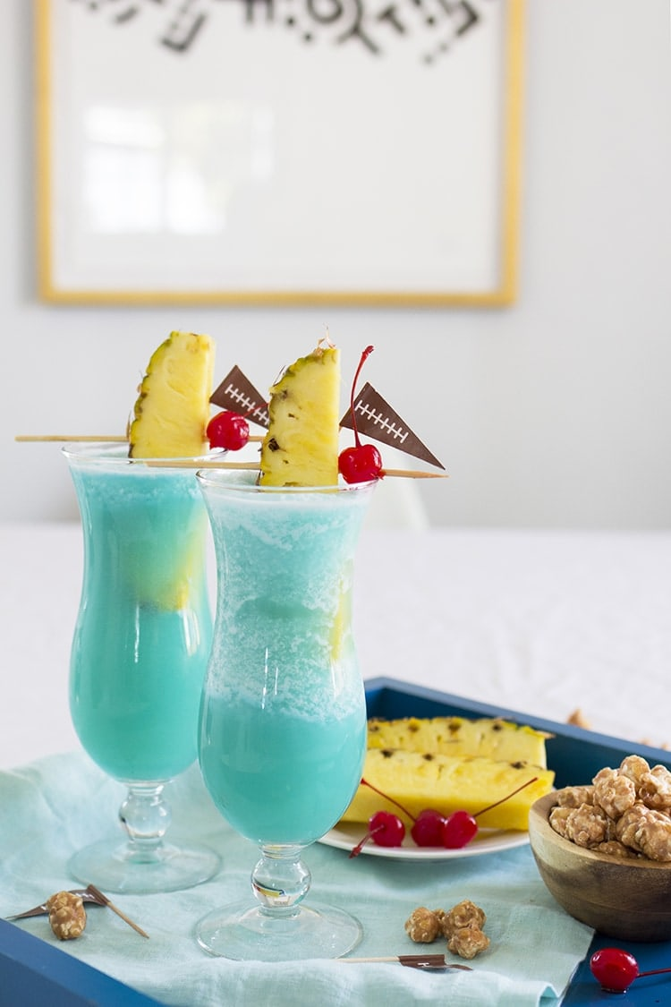 Blue Hawaiian Super bowl Cocktail