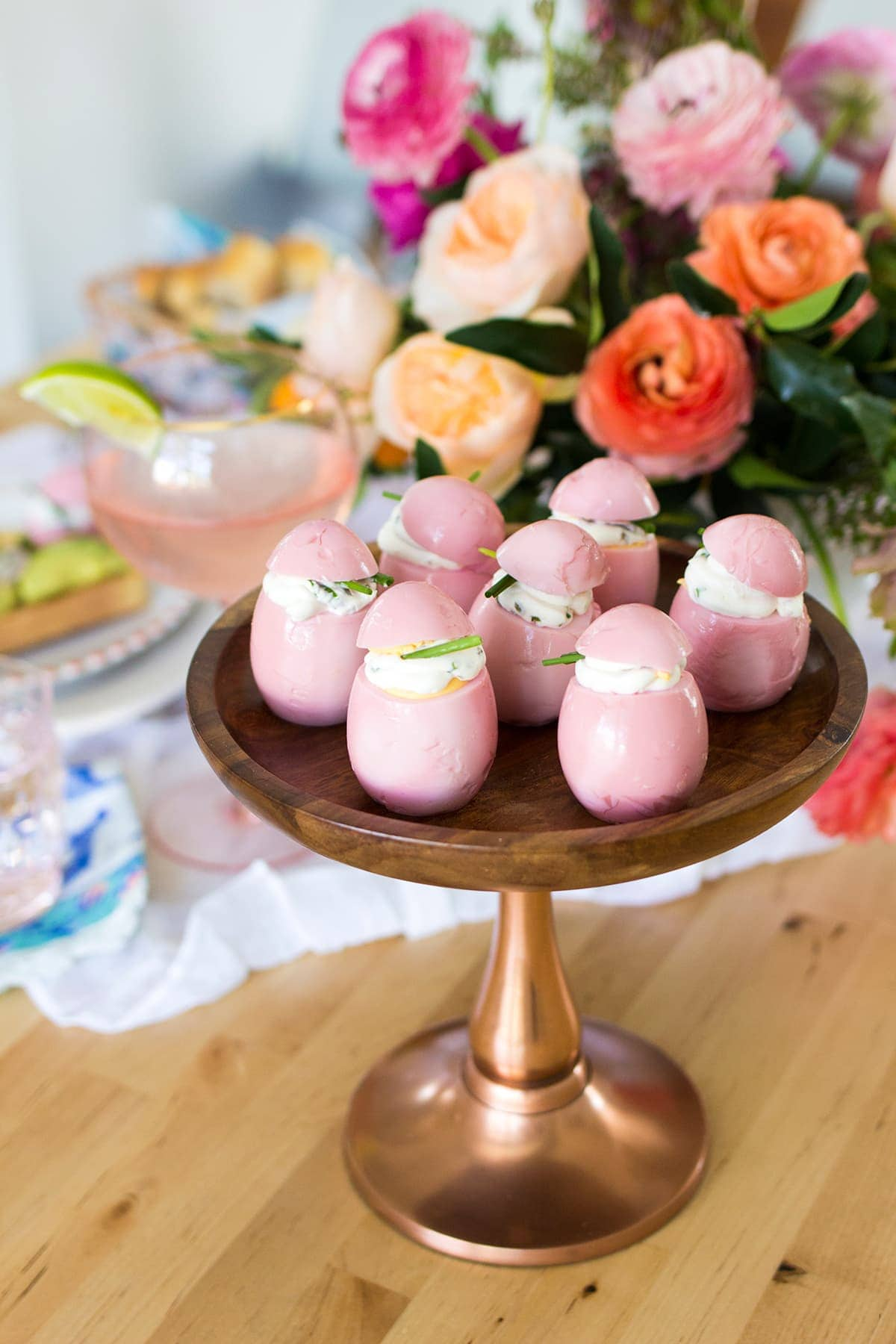 Easter Pickled Pink Eggs