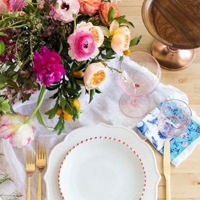 Setting a Spring Table with Anthropologie
