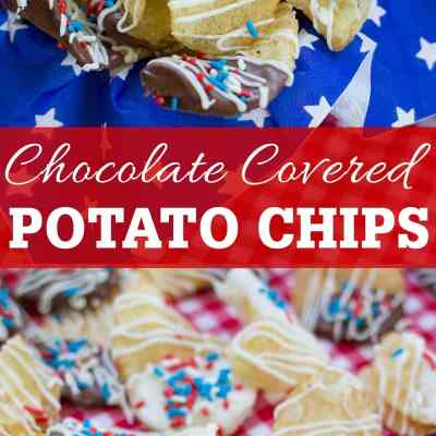 Red, White & Blue Chocolate Covered Potato Chips