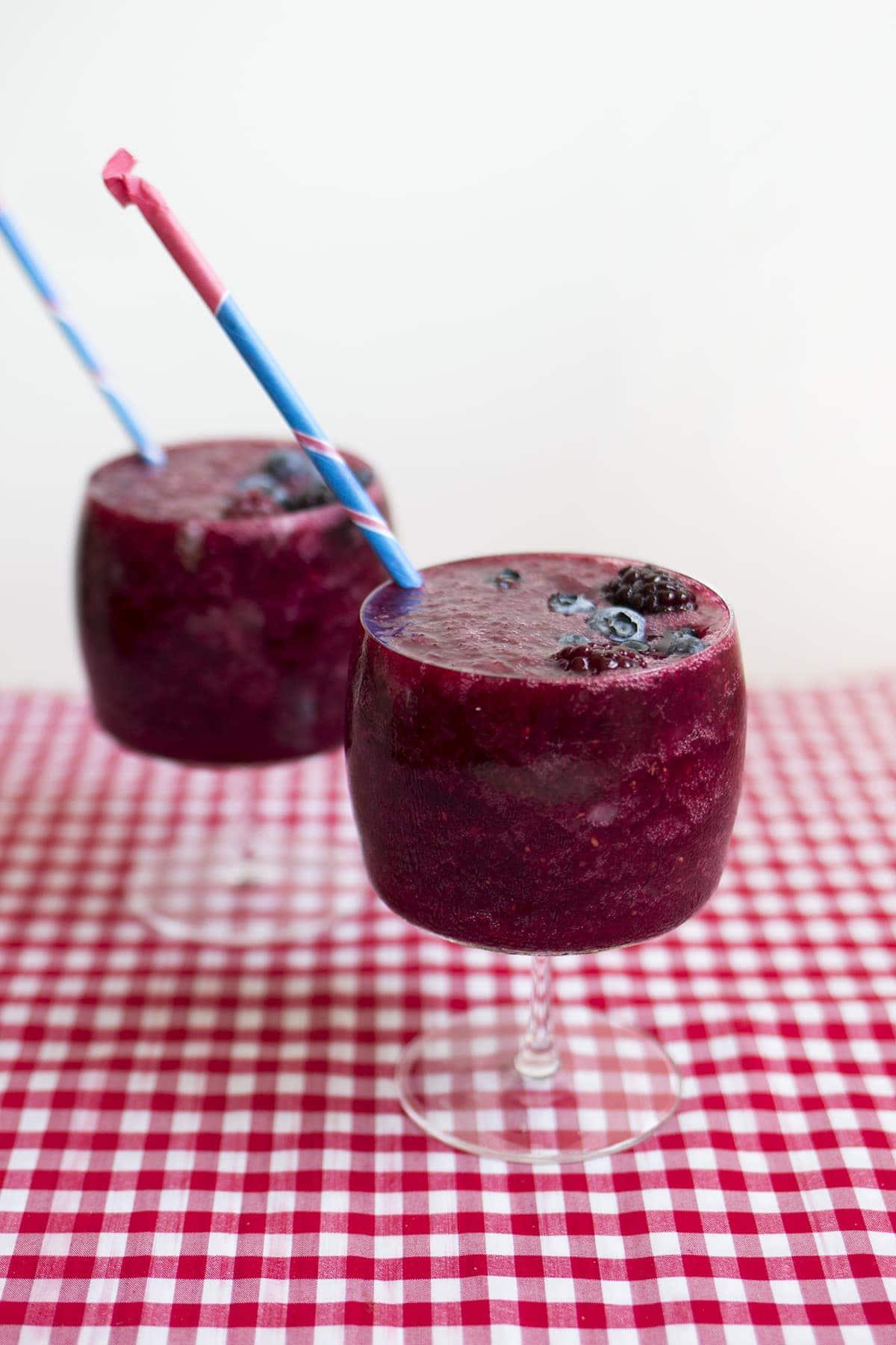 Mixed Berry Wine Slushies