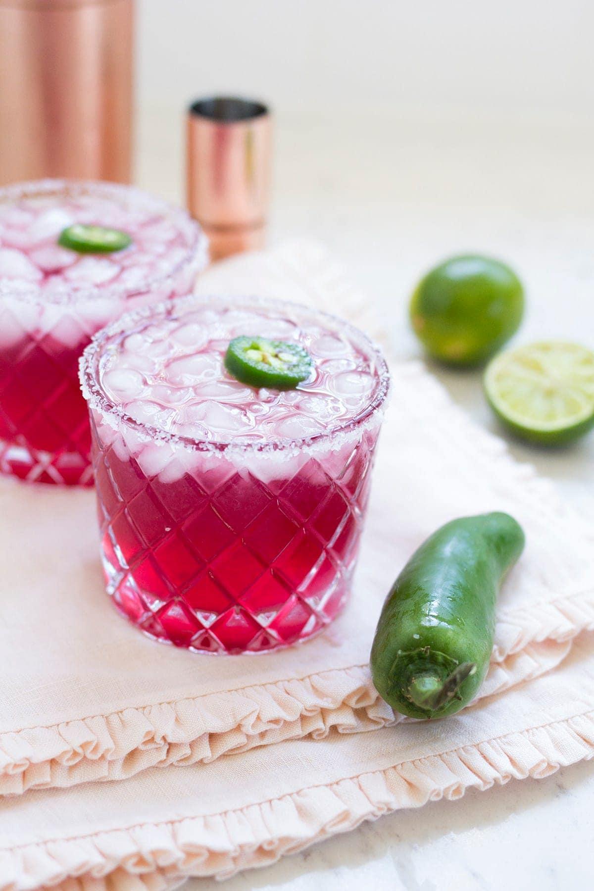 Recipe for Spicy Pomegranate Margaritas
