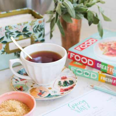 Me-Moments, Tea + Meal Planning