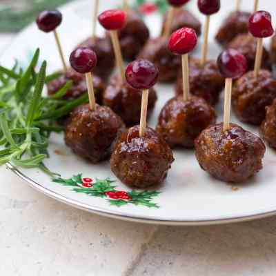Cranberry Barbecue Cocktail Meatballs