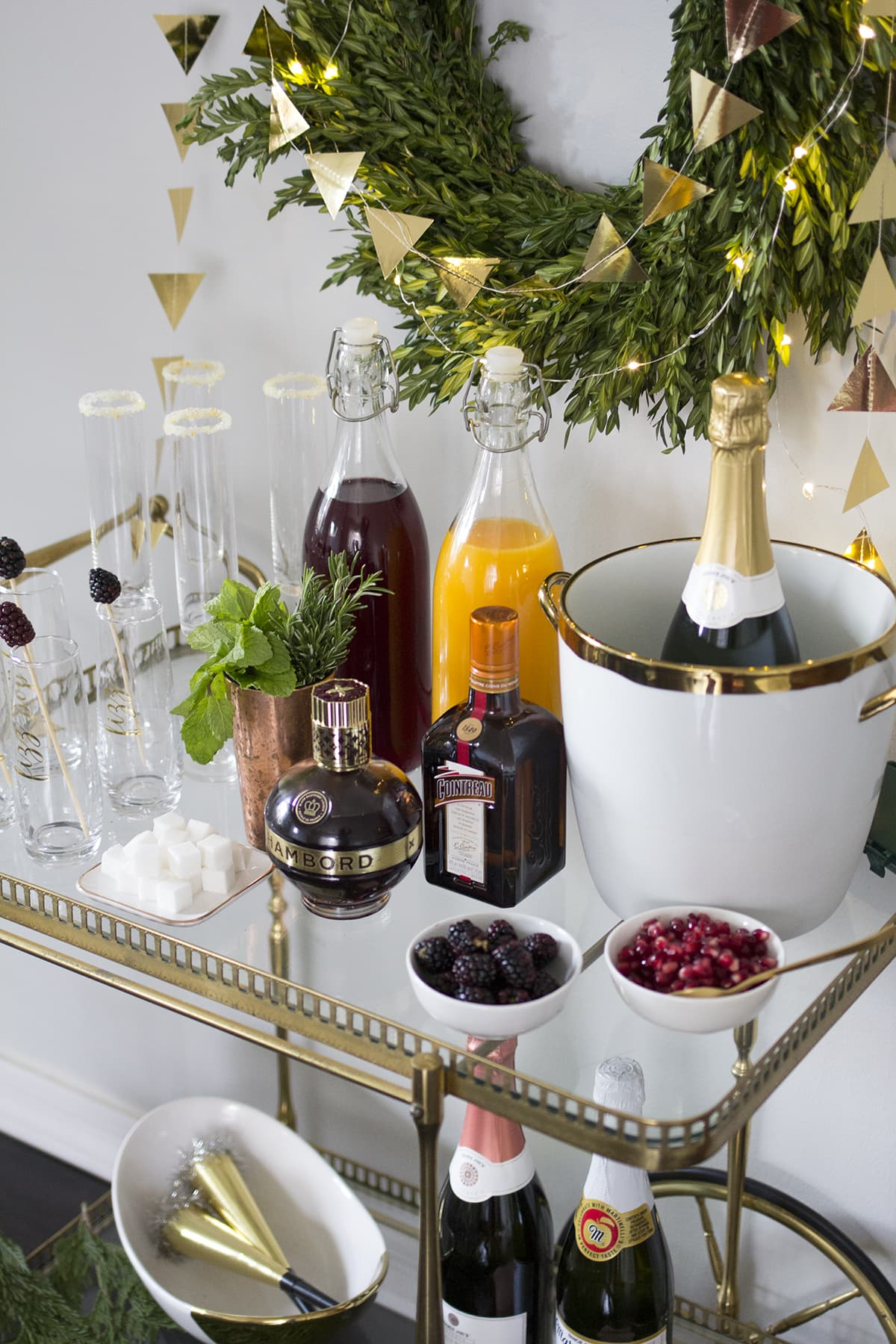 Setting up a New Years Eve Champagne Bar
