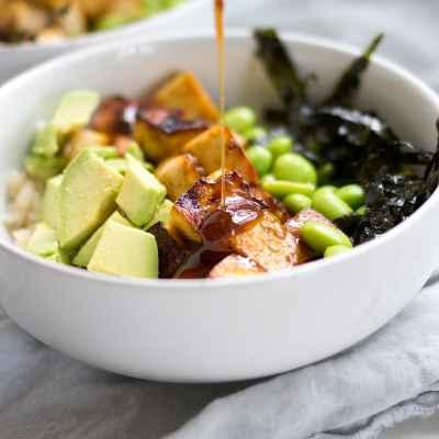 Sesame-Ginger Tofu Rice Bowls