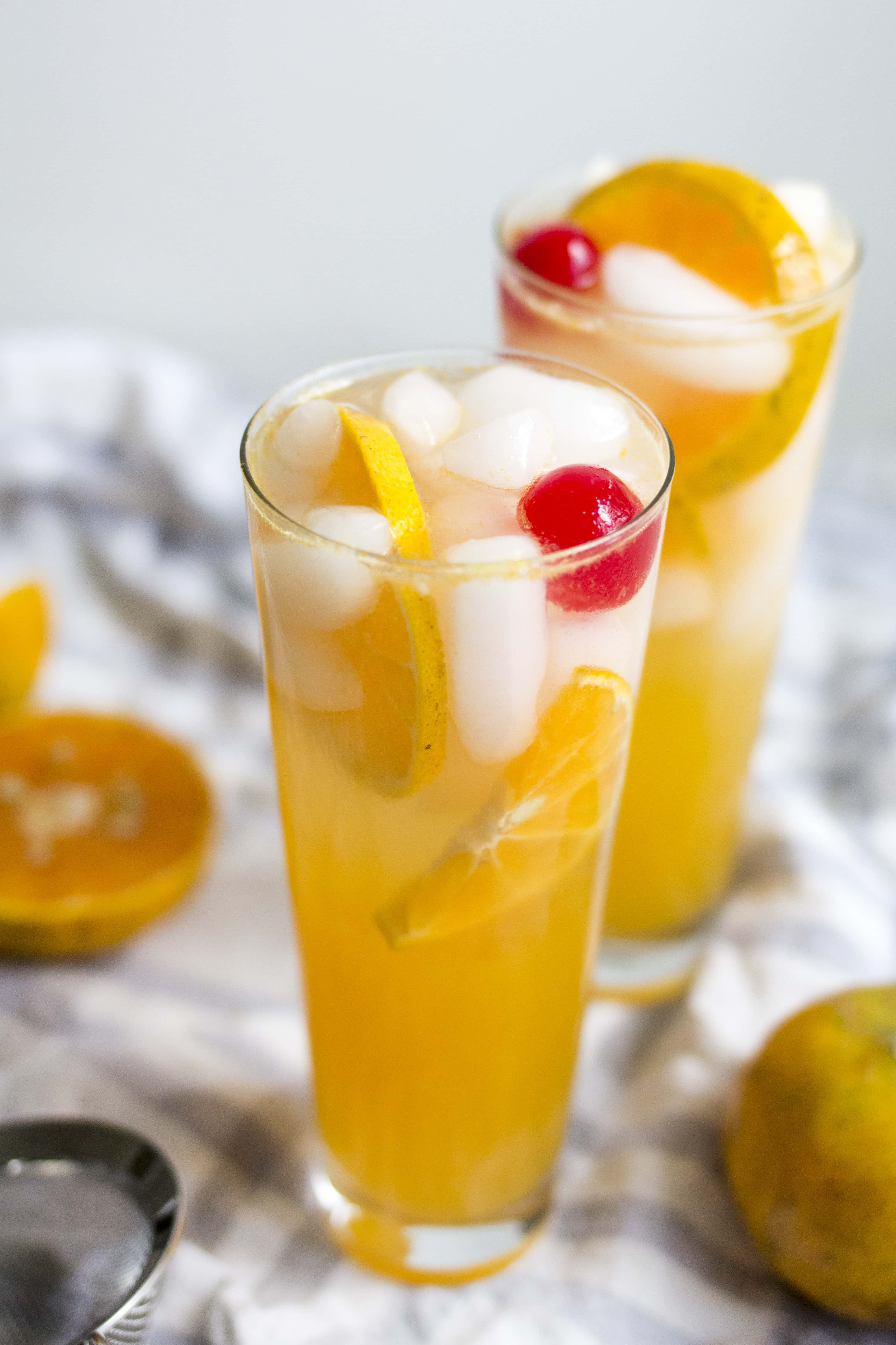 Honey Tangerine Collins Cocktail