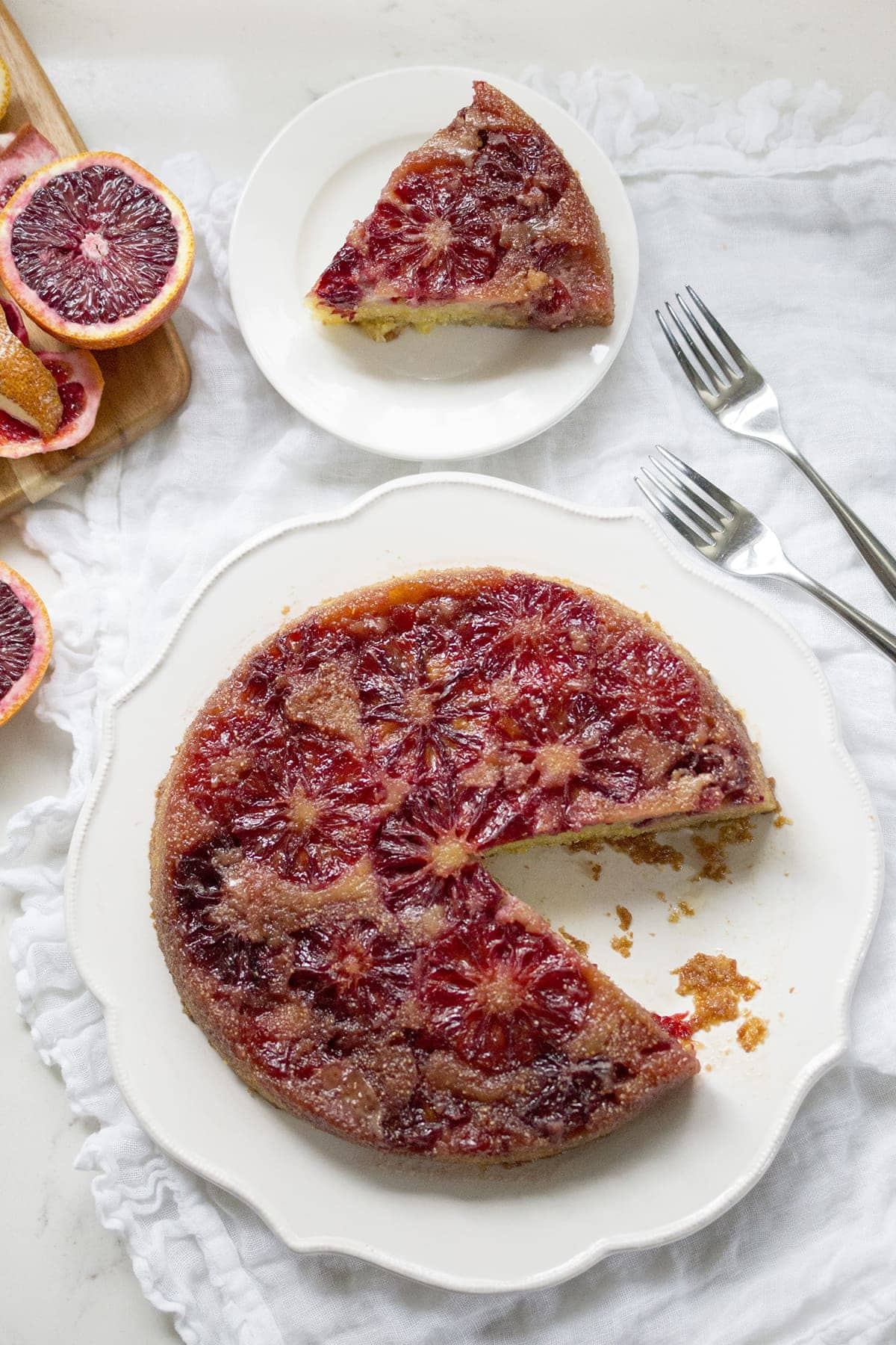 Blood Orange Upside Down Cake