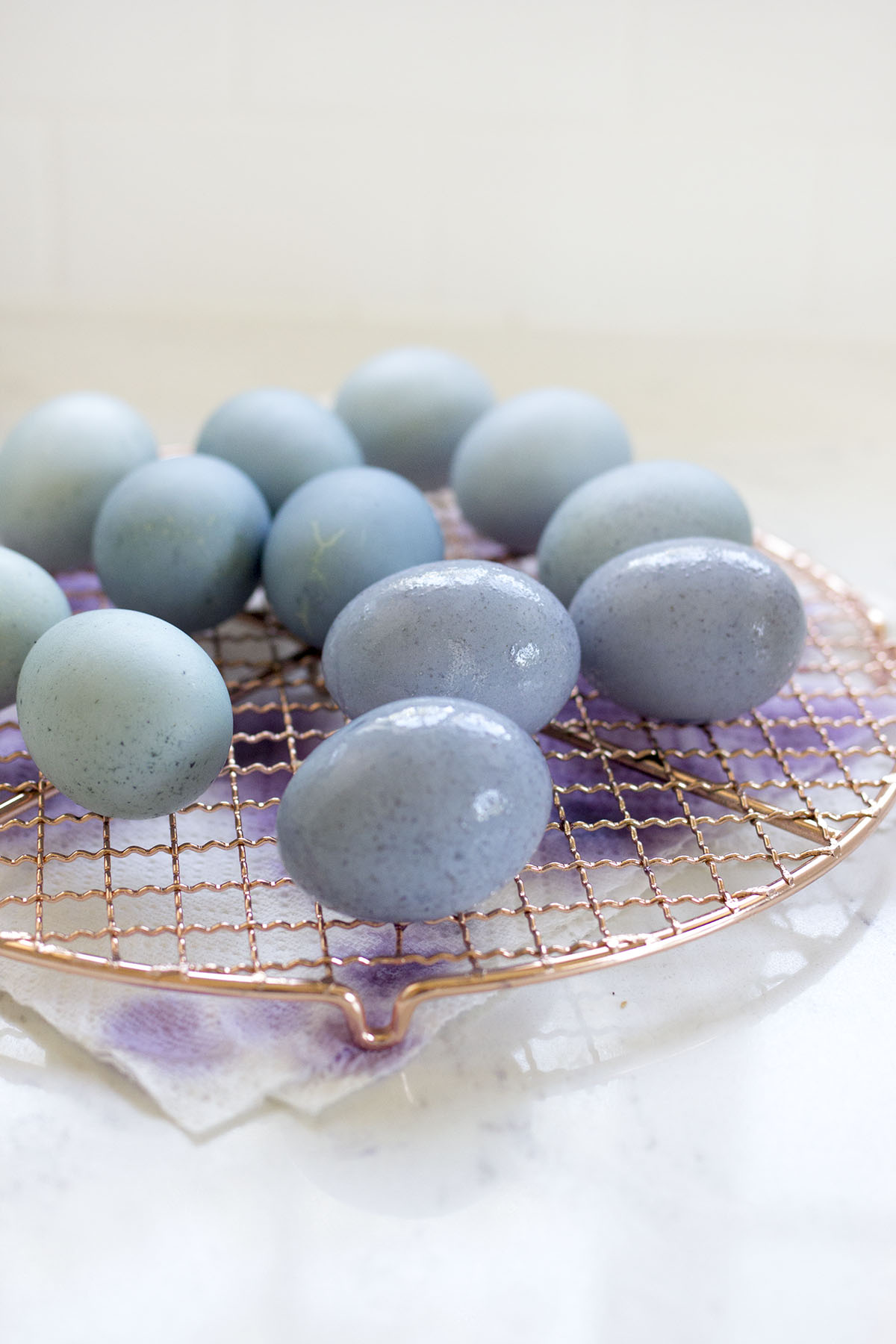 How to Dye Easter Eggs with Blueberries