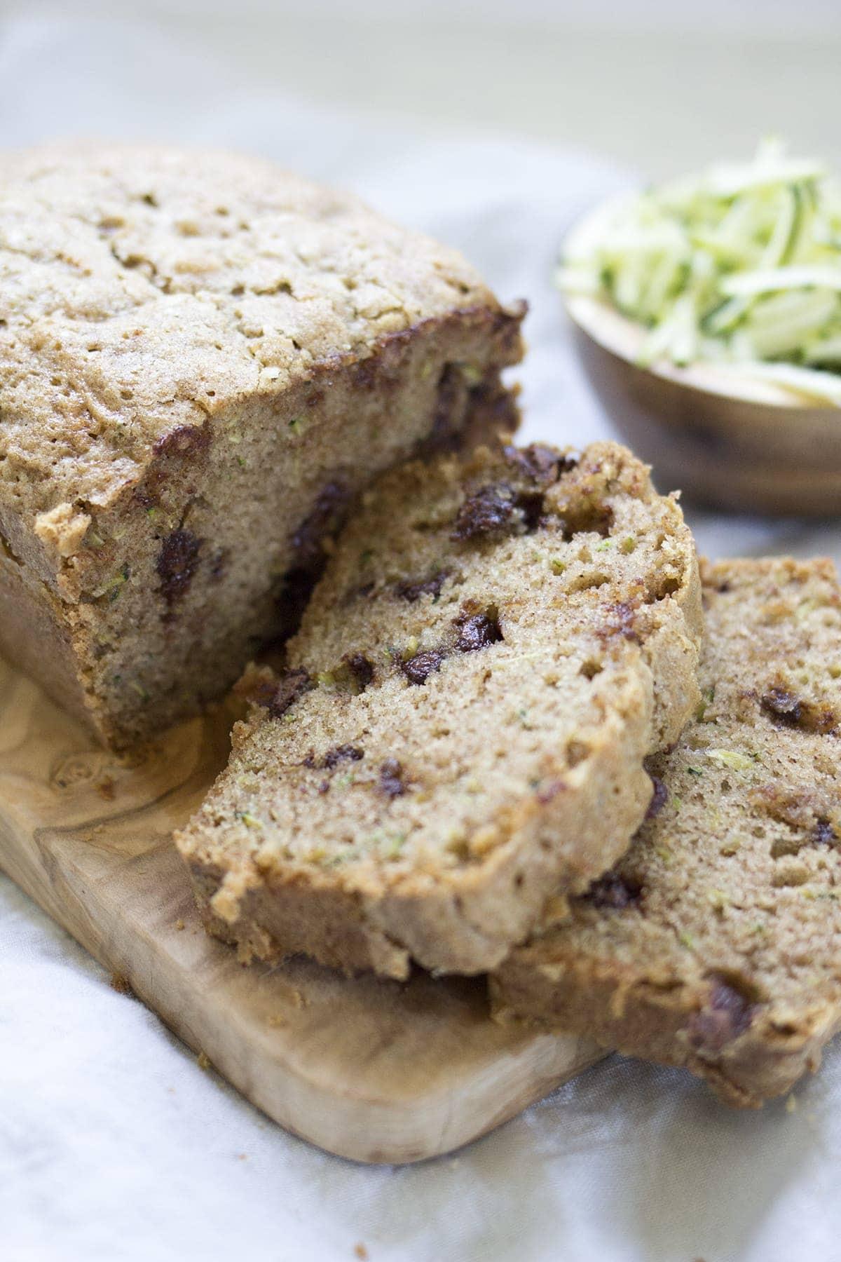 Chocolate Chip Zucchini Bread - Freutcake