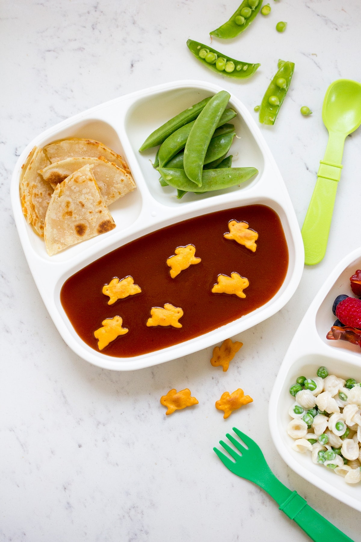 Tomato Soup Quesadilla Toddler Lunch
