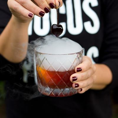 Halloween Old Fashioned Cocktail