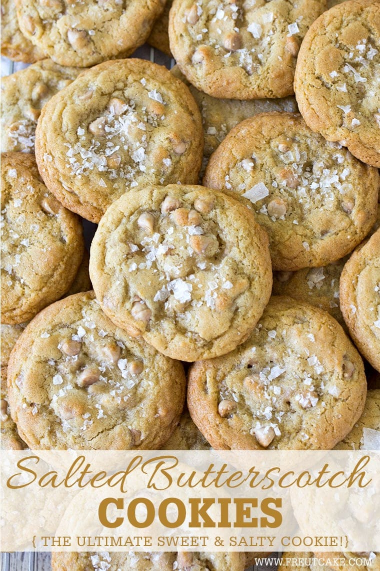 Salted Butterscotch Cookies #oldfashioned #butterscotch #cookies #butterscotchcookies #chewybutterscotchcookies #bestbutterscotchcookies #saltedcaramel