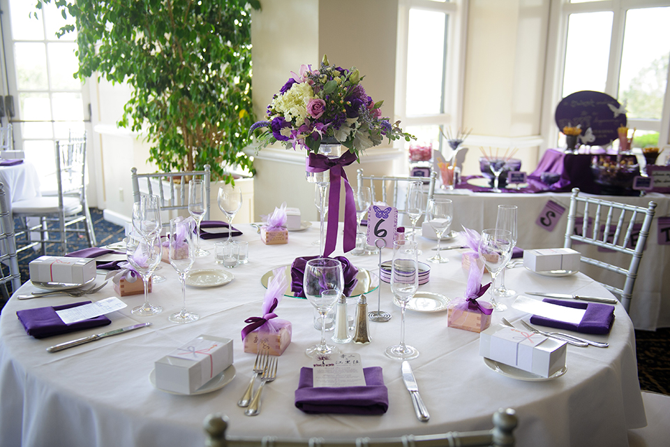Purple Wedding Inspiration at the Summit House