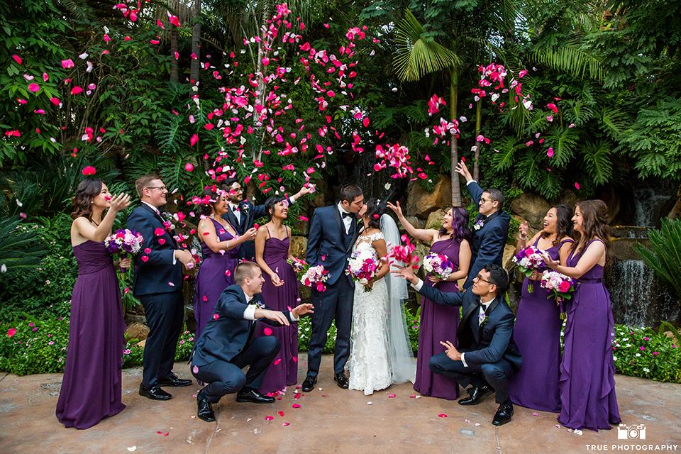 Navy and Purple San Diego Garden Wedding