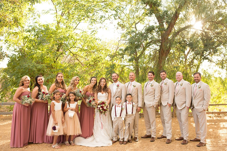 Romantic Rose Gold Ranch Wedding