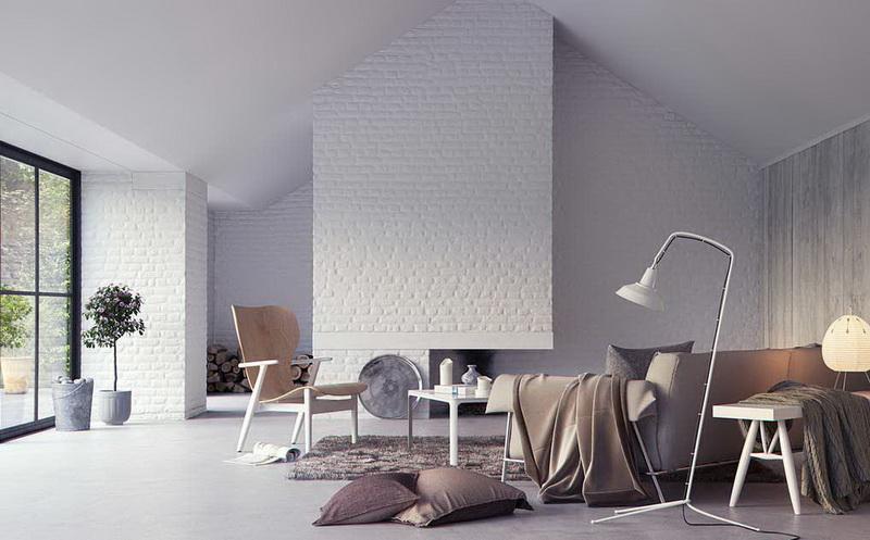 White-Brick-Wall-Interior-Living-Area