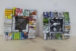 DIY_Bilderrahmen_Kunst_Papier_Zeitschriften_Recycling_basteln_Kinder_FRICKELclub_Offenbach_externe AG_Erasmus (15)