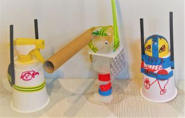 FRICKELclub_Recycling_Geburtstagsbasteln_Kinder_Ninjago_Spinjitzu_Aliens_Roboter_Fahrzeuge (6)