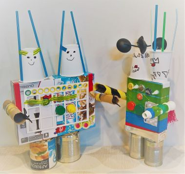 FRICKELclub_Recycling_Geburtstagsbasteln_Kinder_Ninjago_Spinjitzu_Aliens_Roboter_Fahrzeuge (7)