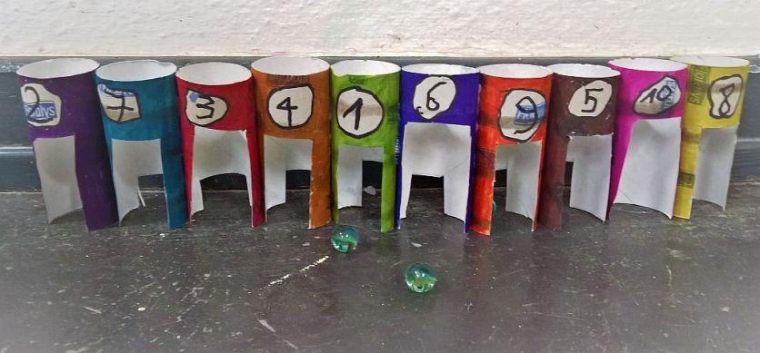 FRICKELclub_Recycling_Basteln_Kinder_Murmeltor_Spiel (8)