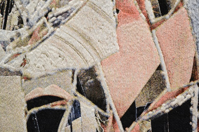detail of digital woven art