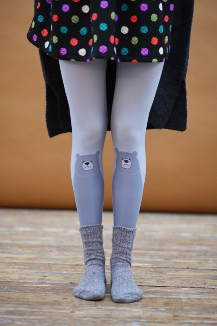 The white pepper grey bear leggings