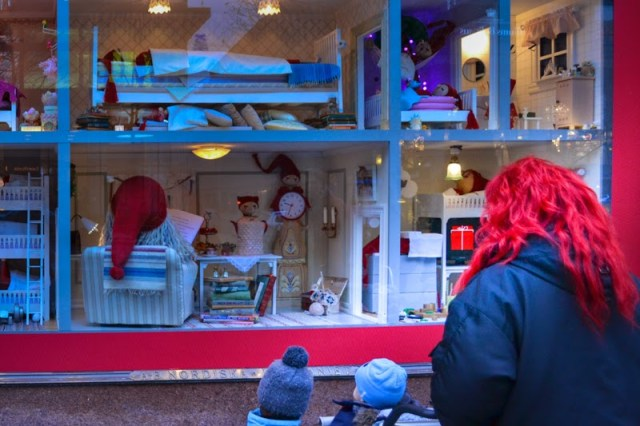 NK Christmas window display 2014