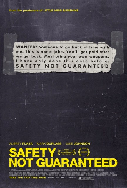 Safety not guaranteed movie poster
