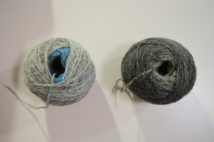 center-pulled balls of yarn