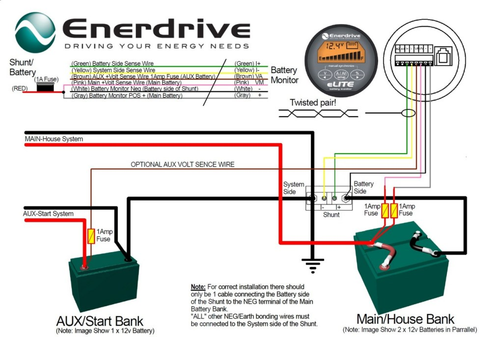 medium resolution of enerdrive battery monitor connections